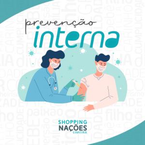 Shopping Nações Limeira vacina funcionários contra a gripe